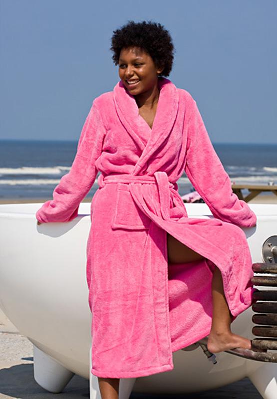 Badjas Roze Met Wellness Pakket Voor Dames